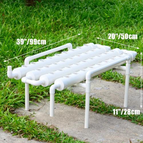 プラスチック水耕キット36スポット4パイプ 1 層家庭菜園野菜ツール水耕ラックホルダー