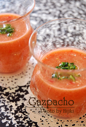 スペインの冷製スープ料理ガスパチョ(Gazpacho)